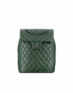 Chanel Dark Green Urban Spirit Small Backpack Bag