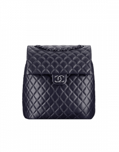 Chanel Dark Navy Blue Urban Spirit Large Backpack Bag