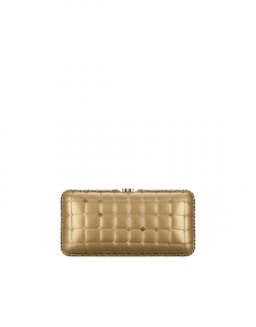 Chanel Gold Metallic Lambskin Evening Bag