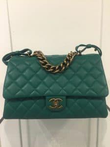 Chanel Green Large Trapezio Bag