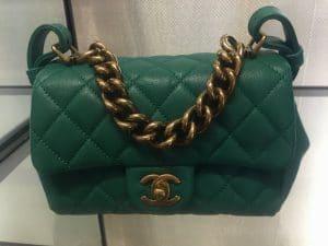 Chanel Green Mini Trapezio Bag