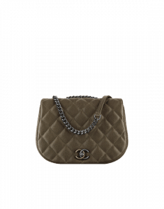 Chanel Khaki Casual Pocket Small Messenger Bag