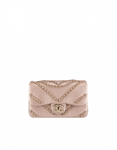 Chanel Light Gold Metallic Lambskin Mini Flap Bag