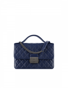 Chanel Navy Blue CC University Medium Flap Bag
