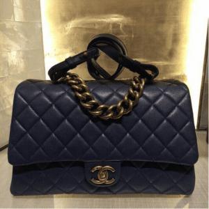 Chanel Navy Small Trapezio Bag