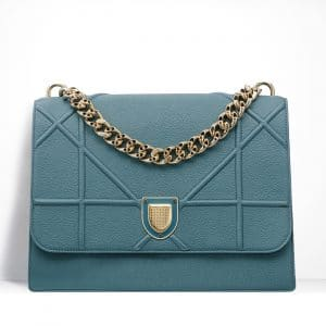 Dior Agave Green Grained Calfskin Diorama Satchel Bag