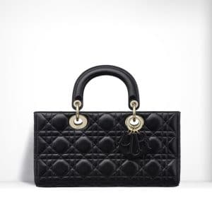 Dior Black Lambskin Runway Bag