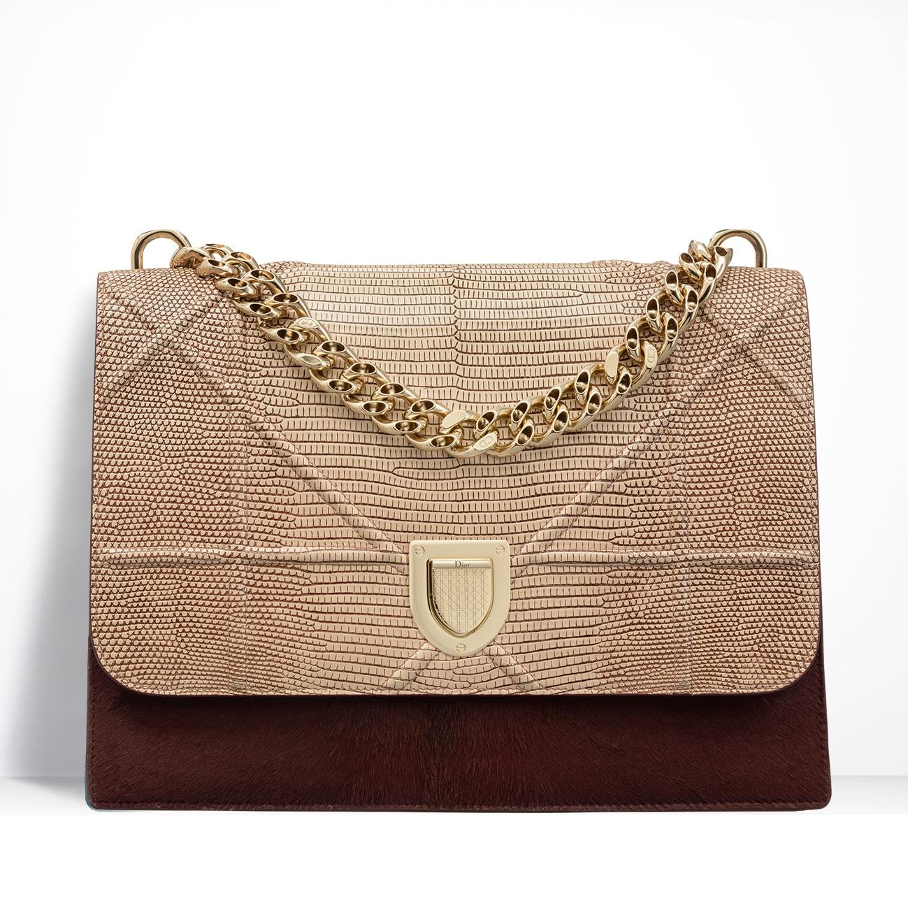 b64282f317b18 Diorama Bag Black Grained Calfskin Price