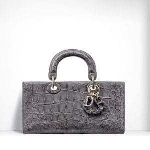 Dior Grey Nile Crocodile Runway Bag