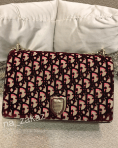 Dior Pink and Beige Dior Print Fabric Diorama Flap Bag 3
