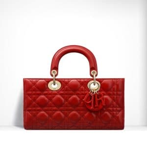 Dior Red Lambskin Runway Bag