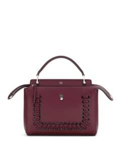 Fendi Bordeaux Whipstitch Dotcom Medium Bag