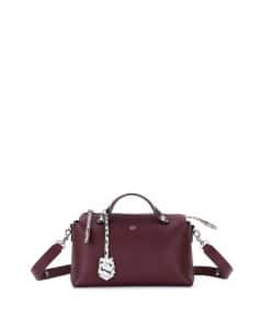 Fendi Burgundy Leathe/Snakeskin By The Way Small Bag