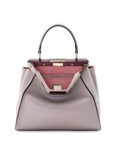 Fendi Light Gray/Soft Pink Bicolor Peekaboo Medium Bag