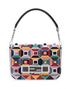 Fendi Multicolor Studded 3Baguette Bag