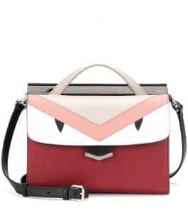 Fendi Red Multicolor Monster Demi Jour Small Bag