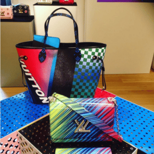 Louis Vuitton Grand Prix Neverfull and Multicolor Twist Bags