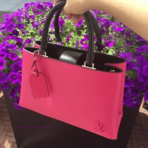Louis Vuitton Hot Pink/Black Epi Kleber PM Bag 2