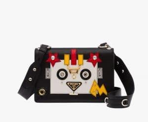 Prada Black/Chalk Red Robot Shoulder Bag
