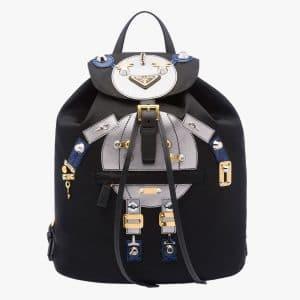 Prada Black/Chrome Robot Backpack Bag