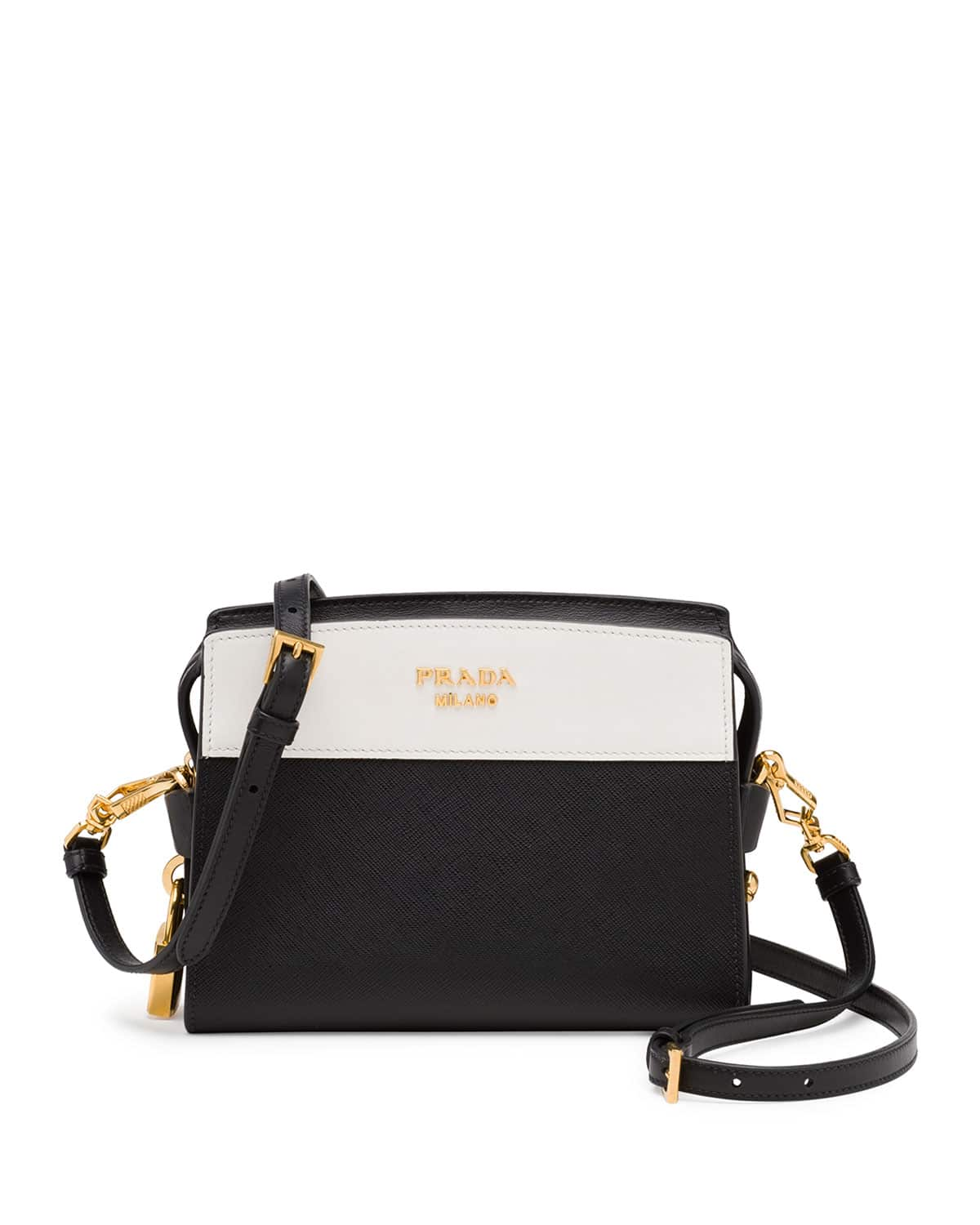 a4bc4f149d45 Prada Black White Esplanade Shoulder Bag