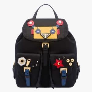 Prada Black/Yellow Robot Backpack Bag
