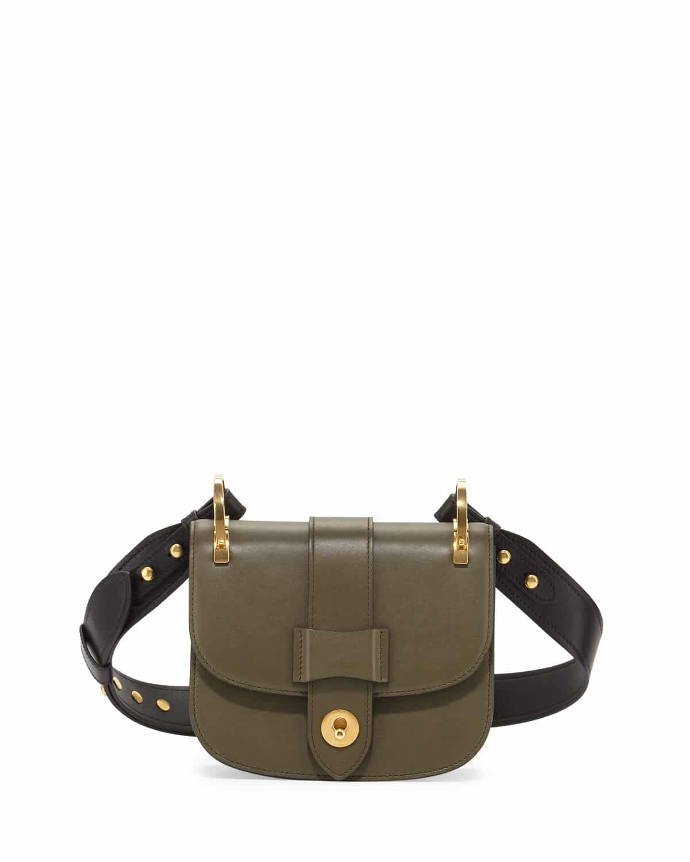 05bbee4b3944 Prada Olive Green Black Pionniere Flap Bag