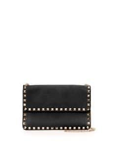 Valentino Black Rockstud Chain Shoulder Bag