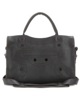 Balenciaga Black Blackout Classic Mini City Bag