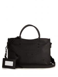 Balenciaga Black Blackout Classic Small City Bag