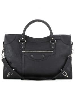 Balenciaga Black Vibrato Classic City Bag