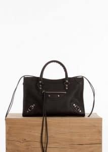 Balenciaga Black Vibrato Classic Small City Bag