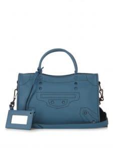 Balenciaga Bleu Canard Blackout Classic Small City Bag