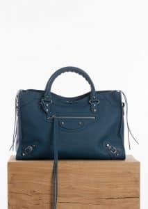 Balenciaga Bleu Canard Vibrato Classic City Bag
