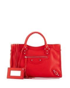 Balenciaga Red Vibrato Classic City Bag
