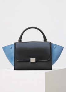 Celine Black Multicolor Small Trapeze Bag