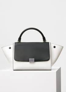 Celine Black/White Small Trapeze Bag