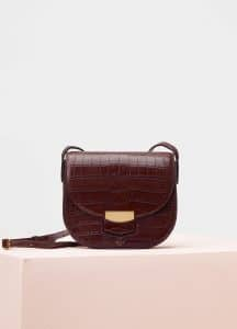 Celine Brown Crocodile Small Trotteur Bag