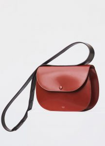Celine Burnt Red Small Round Box Shoulder Bag