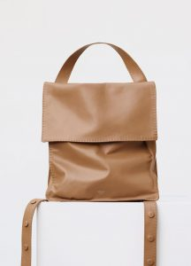 Celine Light Tan Croissant Backpack Bag