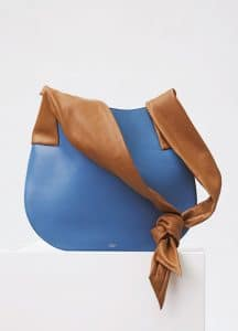 Celine Medium Blue Large Ribbon Shoulder Bag