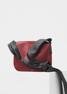 Celine Merlot Small Ribbon Shoulder Bag