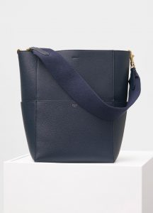 Celine Navy Soft Grained Calfskin Sangle Shoulder Bag