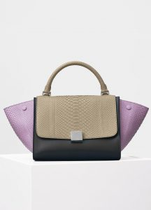 Celine Petal Multicolor Python Small Trapeze Bag