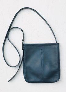 Celine Petrol Croissant Pouch Shoulder Bag