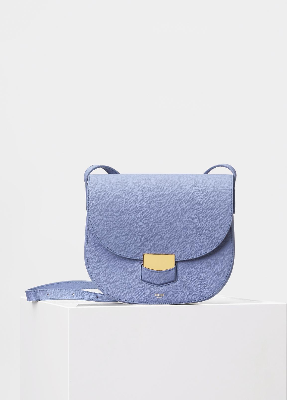 9d029c9e68 Celine Porcelain Grained Calfskin Compact Trotteur Bag