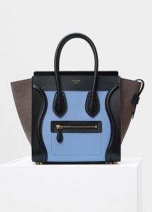 Celine Porcelain Multicolor Baby Grained Calfskin Micro Luggage Bag