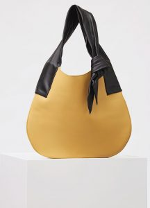Celine Vanilla Large Ribbon Shoulder Bag