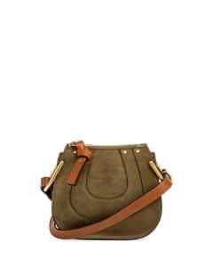 Chloe Eucalyptus Suede Hayley Nano Bag