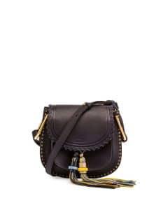 Chloe Full Blue Small Hudson Tassel Bag